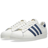 V3w3191 - Adidas Superstar 80s DLX Vintage White & Navy - Men - Shoes
