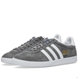 U100u3591 - Adidas Gazelle OG Solid Grey, White & Dark Grey - Men - Shoes