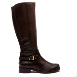 X6f5840 - Clarks Nessa Abbey Dark Brown Leather - Women - Shoes