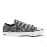 Q76m3489 - Converse Women's Chuck Taylor All Star Animal Material OX Trainers Dolphin/Black/White - Women - Shoes