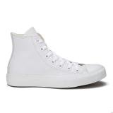 N43d1470 - Converse Unisex Chuck Taylor All Star Leather Hi-Top Trainers White Monochrome - Unisex - Shoes