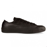 W61s6294 - Converse ALL STAR LOW LEATHER Monochrome Black - Unisex - Shoes