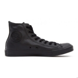 Q50x6060 - Converse All Star High Top Mens Black Mono Leather - Men - Shoes