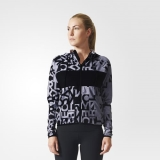 S53x9417 - Adidas Printed Gym Hoodie Black - Women - Clothing