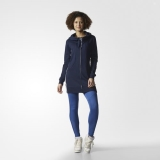 W54f7964 - Adidas Long Hoodie Blue - Women - Clothing
