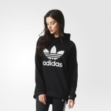 L63h1833 - Adidas Over the Head Basketball Hoodie Black - Women - Clothing