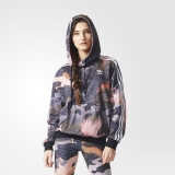 W38v3618 - Adidas Allover Print Hoodie Multicolour - Women - Clothing