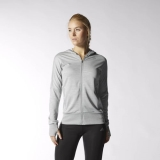 L48h3165 - Adidas Beyond the Run Hoodie Grey - Women - Clothing