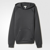 W68j8547 - Adidas Bonded Hoodie Grey - Men - Clothing