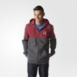 O59w1656 - Adidas Tracked Hoodie 2 Red - Men - Clothing