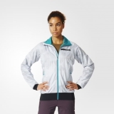 Z65v9250 - Adidas Terrex Skyclimb Alpha Jacket Grey - Women - Clothing