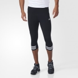 E75s4090 - Adidas Response ThreeQuarter Tights Black - Men - Clothing