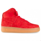 H87j6424 - Nike Sportswear AIR FORCE 1 HIGH WOMENS University Red/Gum Suede - Women - Shoes