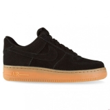 W40s5337 - Nike Sportswear AIR FORCE 1 LOW WOMENS Black/Black/Gum Suede - Women - Shoes