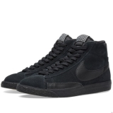 Q82m8012 - Nike Blazer Mid Premium Vintage Black, White & Gum Light Brown - Men - Shoes