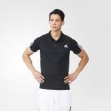 H83m5463 - Adidas Club Polo Shirt Black - Men - Clothing