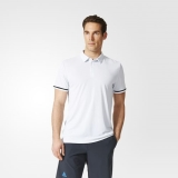 I92p1478 - Adidas Uncontrol Climachill Polo Shirt White - Men - Clothing