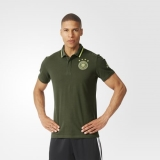 W50i4830 - Adidas UEFA EURO 2016 Germany Anthem Polo Shirt Green - Men - Clothing