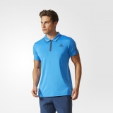 Y59s8864 - Adidas Barricade Polo Shirt Blue - Men - Clothing