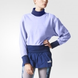 F96y3317 - Adidas Running Sweatshirt Blue - Women - Clothing