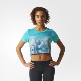 R22w5668 - Adidas Top Photo Tee Green - Women - Clothing