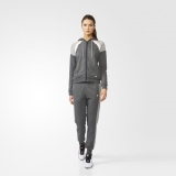 X99b6913 - Adidas Cotton Colorblock Track Suit Grey - Women - Clothing