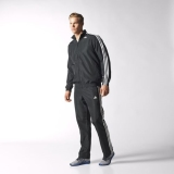 N66q2456 - Adidas 3Stripes Basic Track Suit Black - Men - Clothing