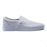 N29j2256 - Vans Classic Slip On Womens White Perforated Leather - Women - Shoes